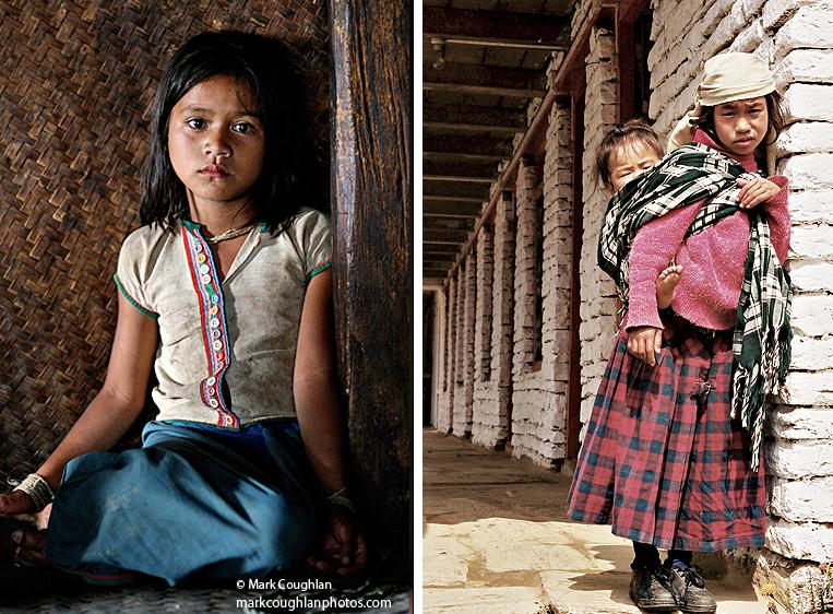 Nepal-trekking-girl-tribal-Annapura